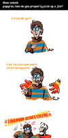 Undertale ask blog: how to pick up Jim
