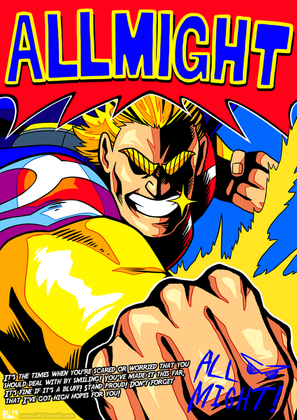 Bnha all might poster print t shirt available by for Buy art posters online