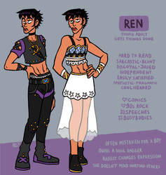 Ren - character reference by neonUFO