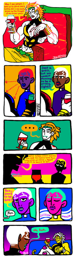 it's a comic with DIO and pucci