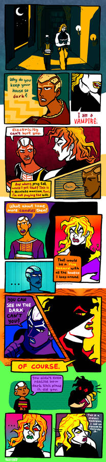 Another comic with DIO and Pucci