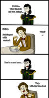 Loki DOESNT support fishfingers with custard...