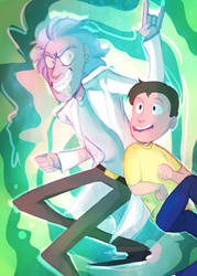 Rick and Morty by InvaderShego