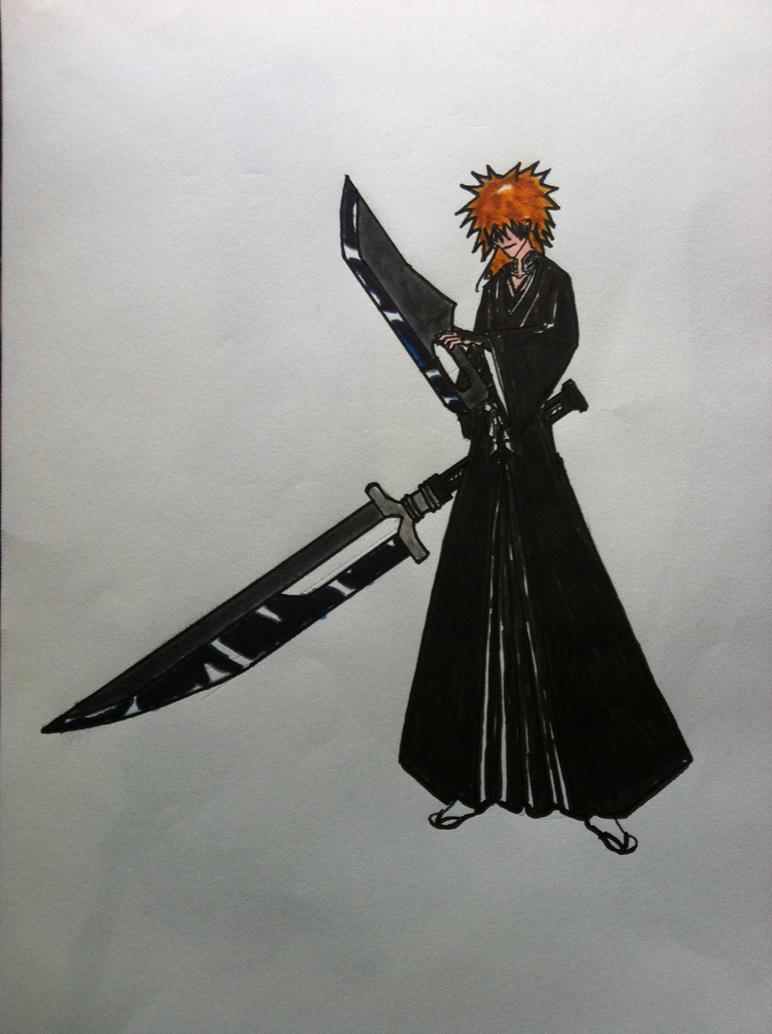 Zangetsu's true shikai swords by gdudko on DeviantArt