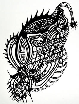 My linework for the Surreal Angler.