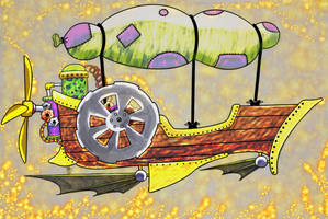 Steampunk Flying Machine (We're Flying)