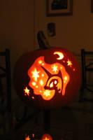 Nightmare Moon Pumpkin by crypticmagic