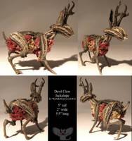 Devil Claw Jackalope by ART-fromthe-HEART