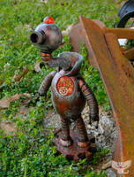 Gourd Robot 'The Watcher' by ART-fromthe-HEART