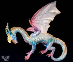 Opalus, Gourd Opal Dragon by ART-fromthe-HEART