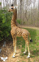 Art Sculpture - Amahle the Masai Giraffe by ART-fromthe-HEART