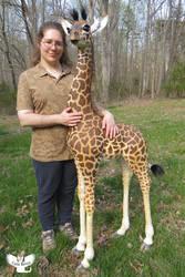 Me with Amahle the Masai Giraffe