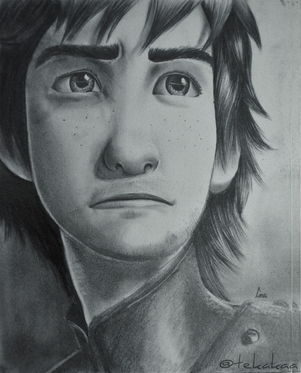 Pencil drawing Hiccup  How to train your dragon 2 by LinaKaye on