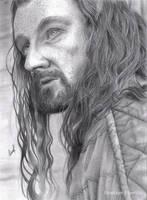 Thorin Oakenshield (Pencil drawing) by LinaKaye