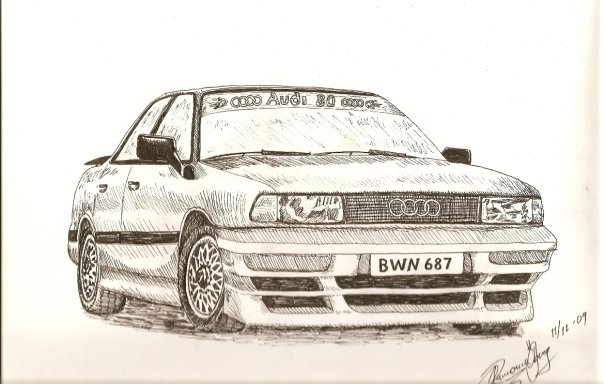 Audi A Old Car By Ramona On DeviantArt - Audi car drawing