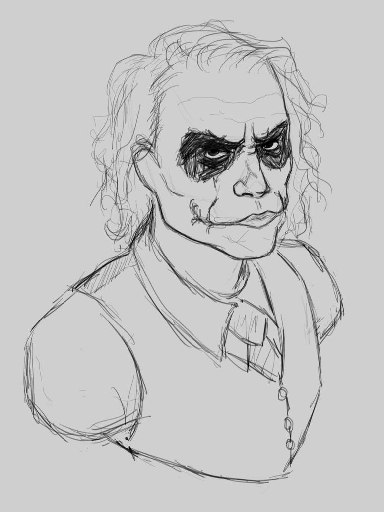 Heath Joker sketch by SaraMFDraws