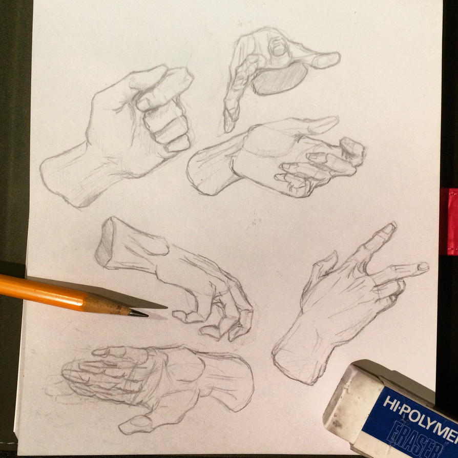 Hand Study - 1 by SaraMFDraws