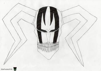 Bleach. Ichigo Vasto Lorde mask by ElitePredatorFHG