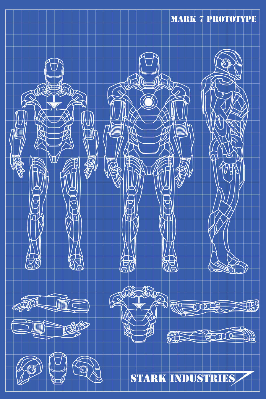 Iron man blueprints by nickgonzales7 on deviantart for Where to print blueprints