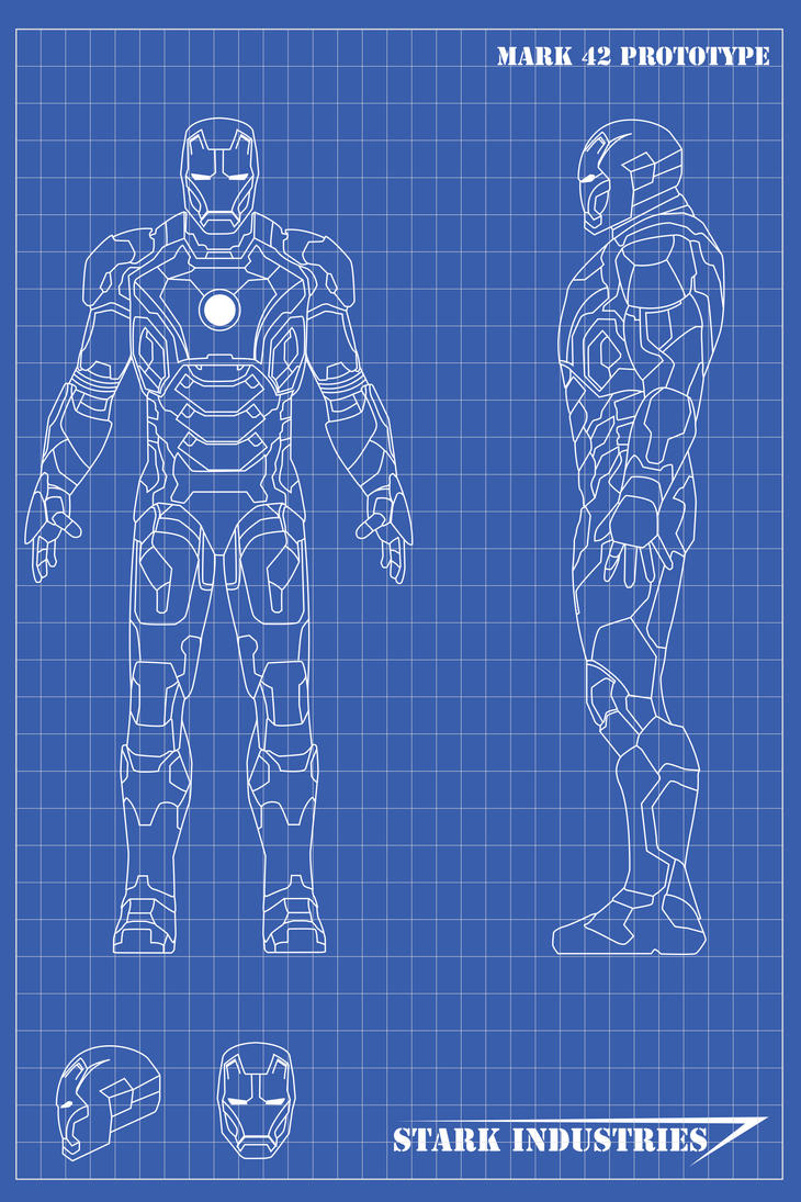 Iron Man Blueprints Mk42 By Nickgonzales7 On Deviantart