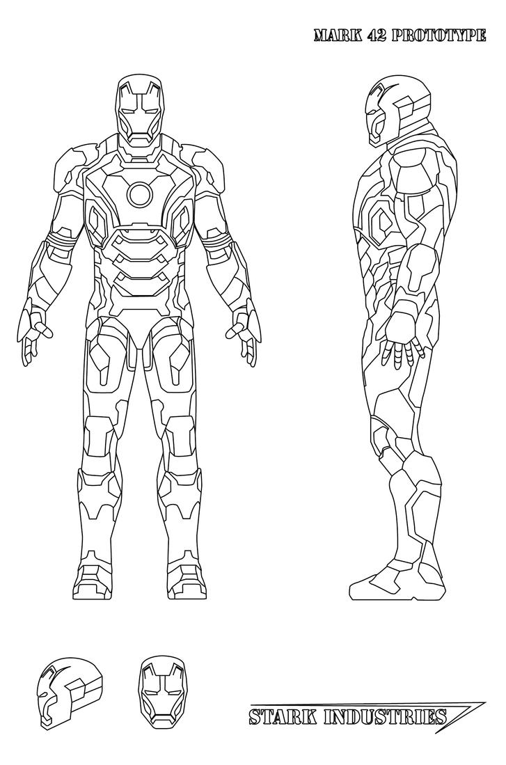 Iron Man 3 Coloring Pages Mark 42 Images amp Pictures Becuo