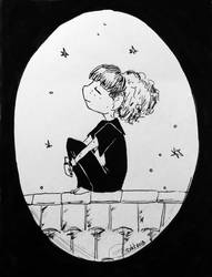 Inktober #2 - Tranquil by gnuttormen