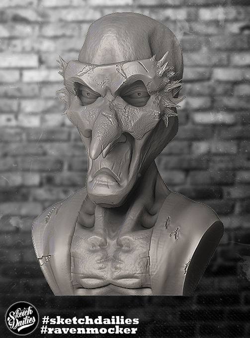 Ravenmocker zbrush sketch by ryujin2490