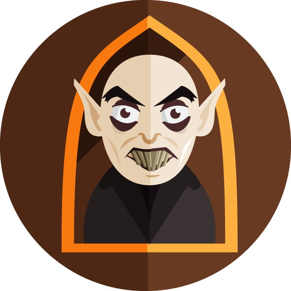 Flat style icon freebie : Nosferatu by ryujin2490