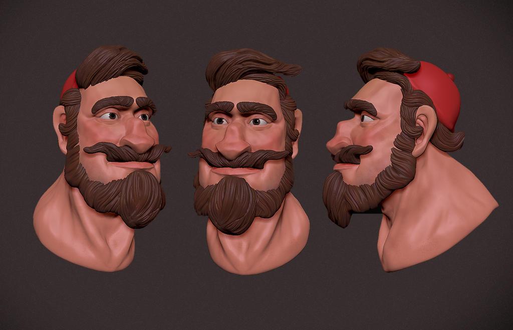 zbrush character designs - Lumber Jackson by ryujin2490