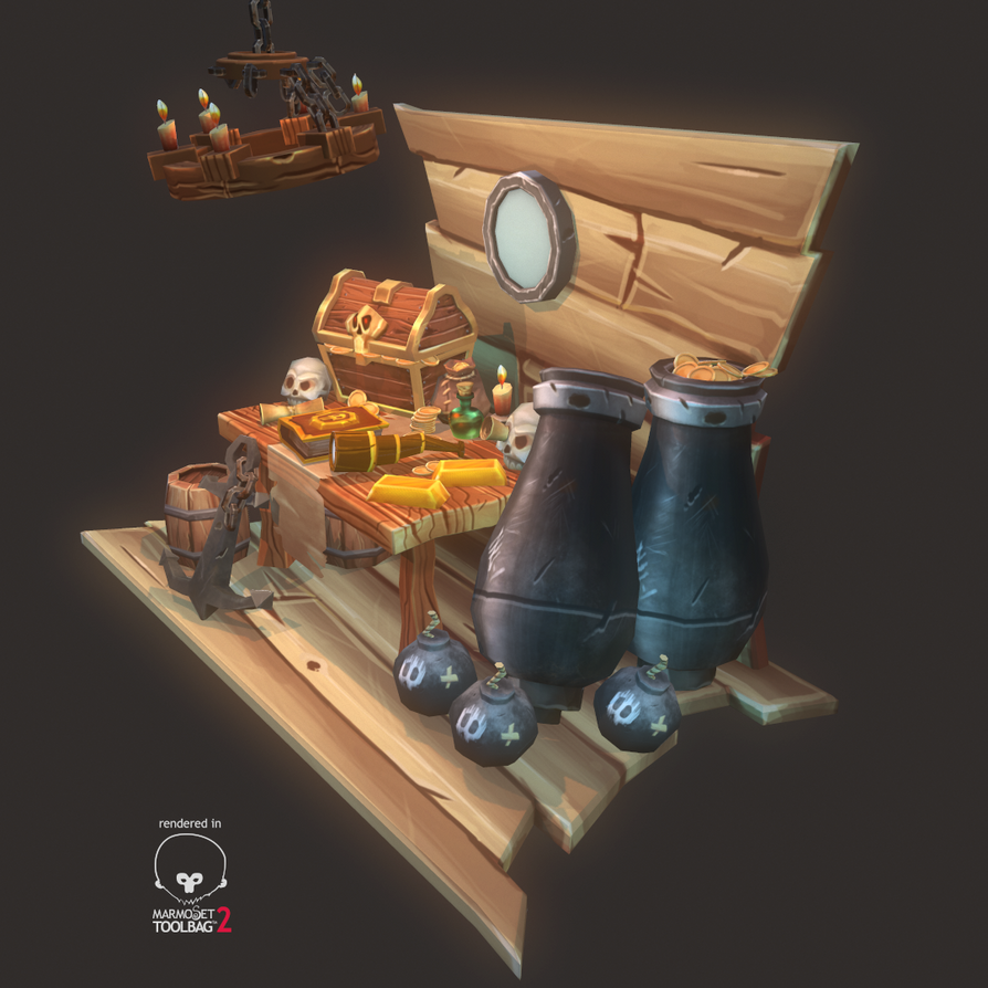 Low Poly Pirate Theme Set by ryujin2490