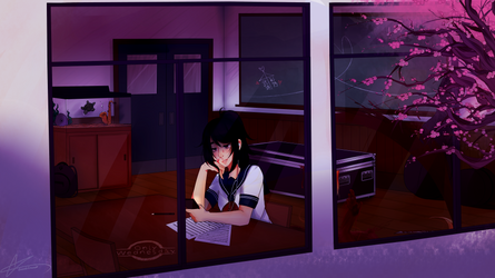 It's Only Wednesday Night, Ayano [C] by witchuru