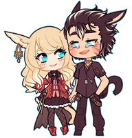 Cat Couple[C] by witchuru