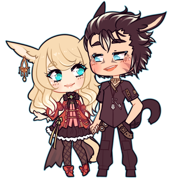 Cat Couple[C] by LucciolaCrown