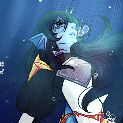 Icon Commission : Watery-Depths by LucciolaCrown
