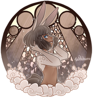 Glass Portrait : Dust Bunny [C] by witchuru