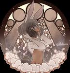 Glass Portrait : Dust Bunny [C] by witchuru