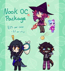 Nook OC Package : AC Chibi Commissions