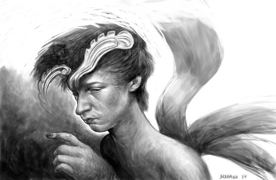 El muchacho triste y las lenguas lujuriosas by susanavillegas