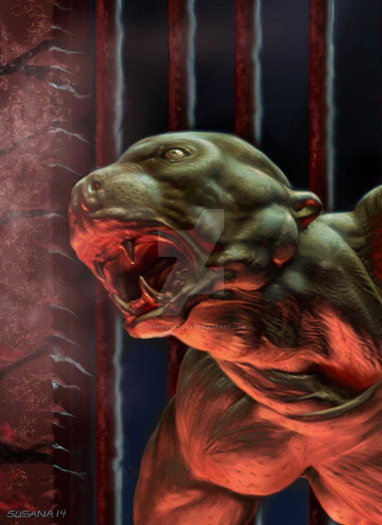El perro en el portal de las profundidades by susanavillegas