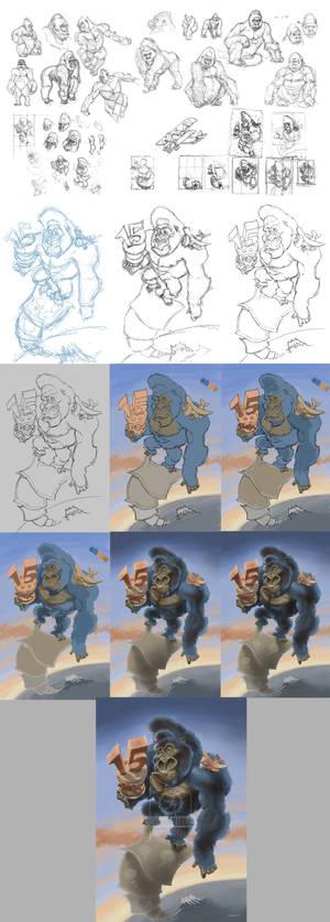 StepbStep King Kong Celebrates 15