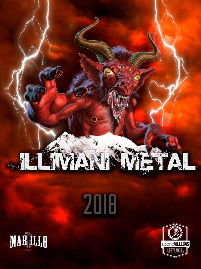 Illimani Metal Fest Poster Evil Goat by susanavillegas