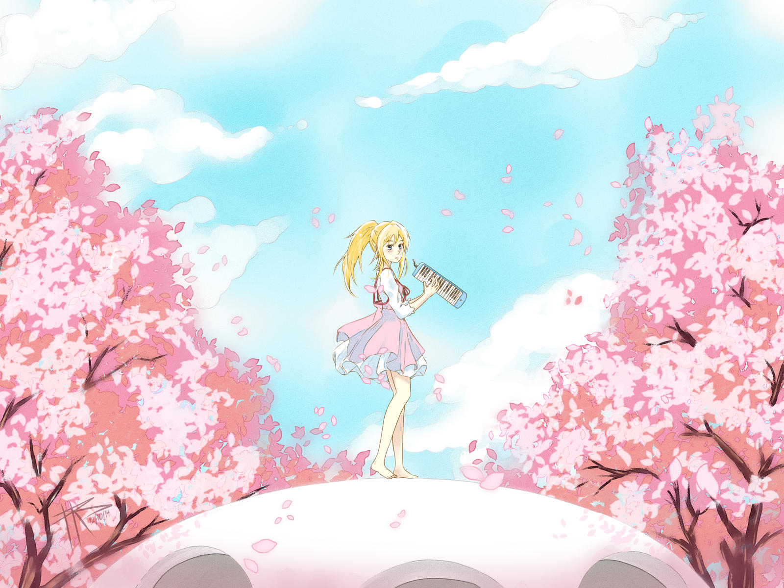 Your Lie In April Coloring Pages Kousie