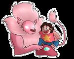 [Steven Universe] Steven and Lion