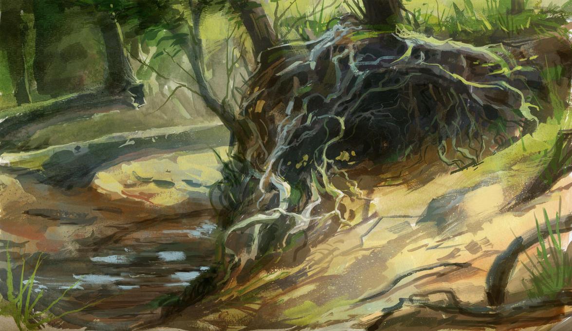 Malibu Creek study by IzzyMedrano