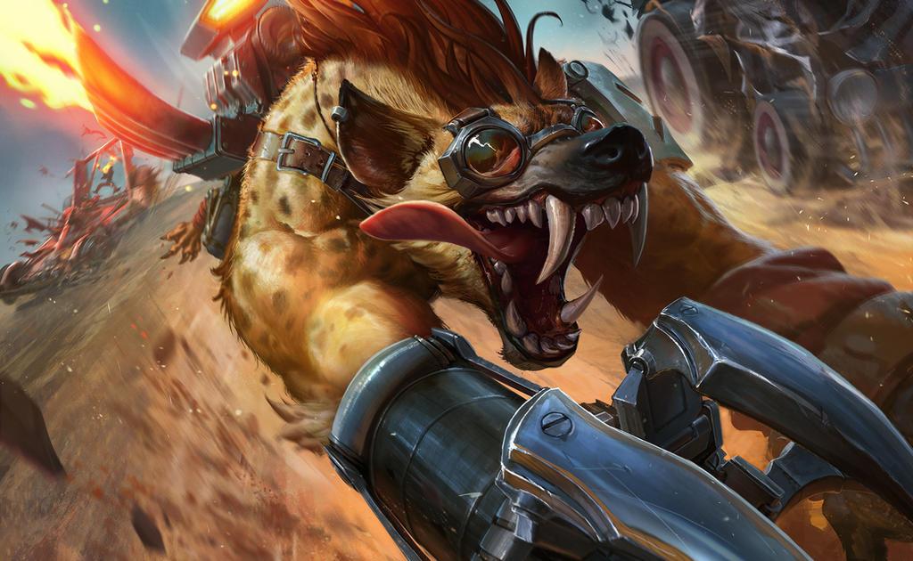 Hyena Warwick for Riot Games by IzzyMedrano