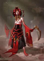 Goddess of Decay I by IzzyMedrano