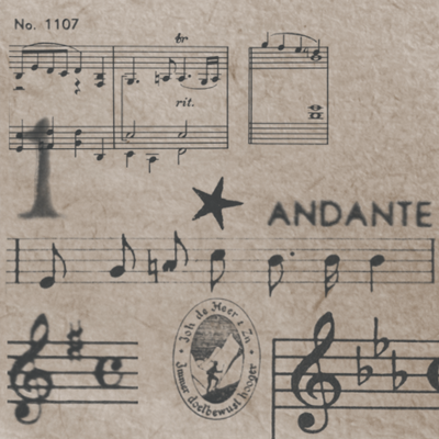 Old Music Notes Brushes by Leichim
