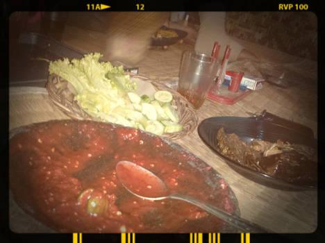 a traditional Sundanese feast