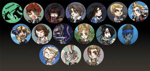 Final Fantasy Buttons by perishing-twinkie