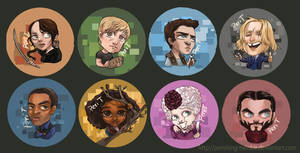 Hunger Games Buttons